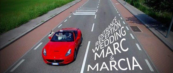 Wedding reception entrance in Italy