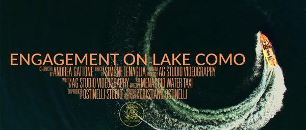 Engagement video on lake Como