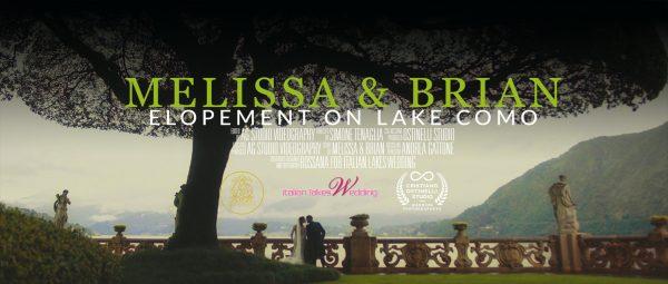 Video elopement on lake Como at Villa Balbianello