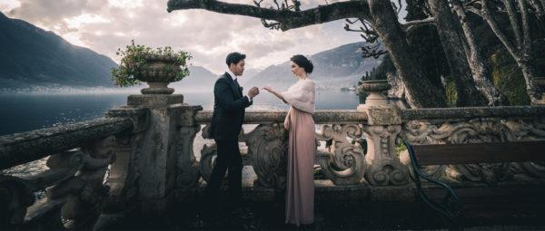 Video wedding proposal on lake Como